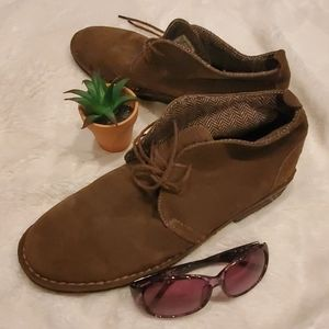 Gotcha Brown Suede Lace Up Chukka Boots